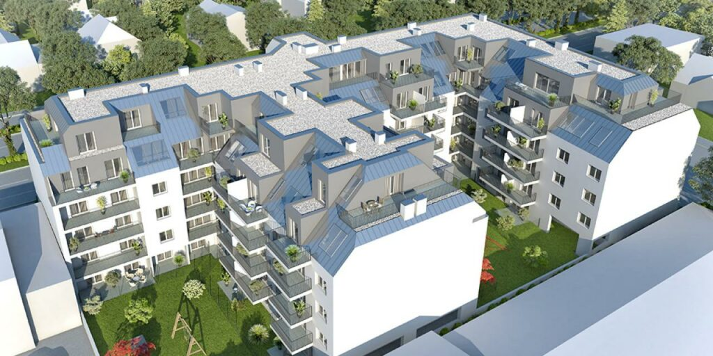 Wohnbauprojekt Donaustadt Topview